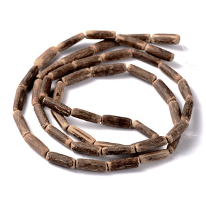 "Wood CocoNut Beads - Eco Friendly Tube Beads 15-20mm - 30"" strand"