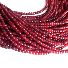 Load image into Gallery viewer, Red horn beads 4-5mm - eco friendly and natural horn beads