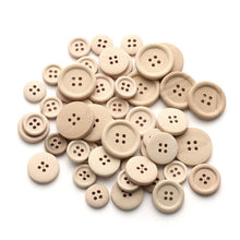 Load image into Gallery viewer, 12 Natural unfinished wood buttons 15, 20 or 25mm
