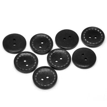 Charger l'image dans la galerie, 4 Black wood button with dotted Line 25m