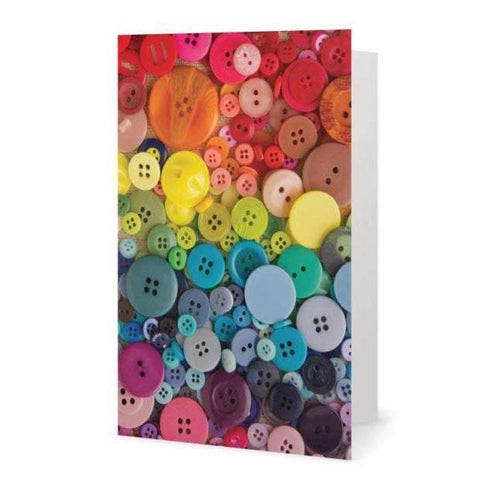 Buttons greeting card - Blank notecard for Sewing Lovers