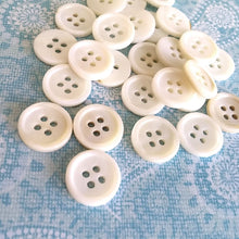 Load image into Gallery viewer, Mother of Pearl Shell Buttons 15mm - set of 6 eco friendly natural buttons