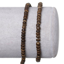 Load image into Gallery viewer, 140 Natural brown coconut wood Beads 4mm