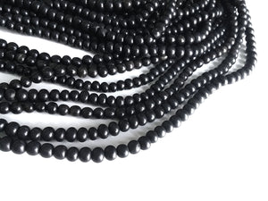 Natural black horn beads 7mm - eco friendly and natural horn beads