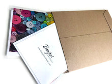 Load image into Gallery viewer, Buttons greeting card - Blank notecard for Sewing Lovers