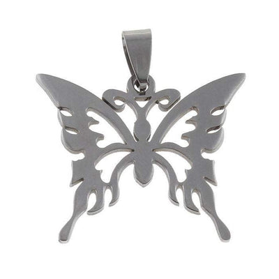Butterfly pendant stainless steel hypoallergenic DIY necklace pendant
