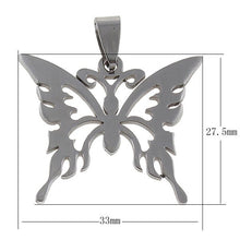 Load image into Gallery viewer, Butterfly pendant stainless steel hypoallergenic DIY necklace pendant