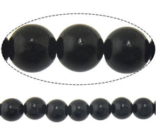 Load image into Gallery viewer, Natural Black Stone Beads Round 4 or 6mm