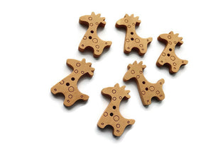 Giraffe Wooden Buttons Set of 6