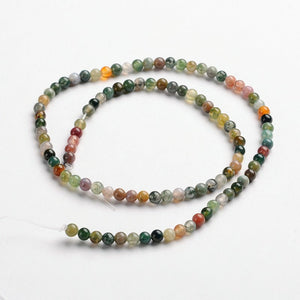 Natural Indian Agate Stone Beads Strands 4 or 6mm Round