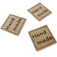 Load image into Gallery viewer, 1 inch square sticker label handmade - 32pcs