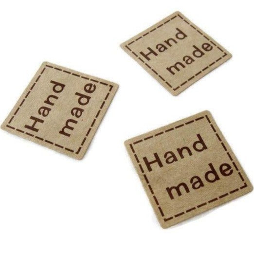 1 inch square sticker label handmade - 32pcs
