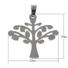 Load image into Gallery viewer, Tree pendant stainless steel DIY necklace pendant