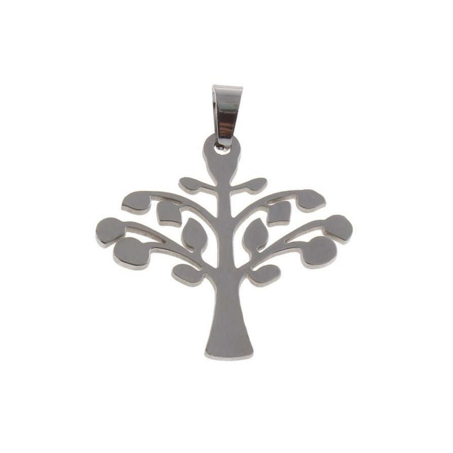 Tree pendant stainless steel DIY necklace pendant