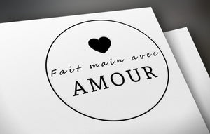 Fait main avec amour tags - One and half inch round tags images - Digital Collage Sheet