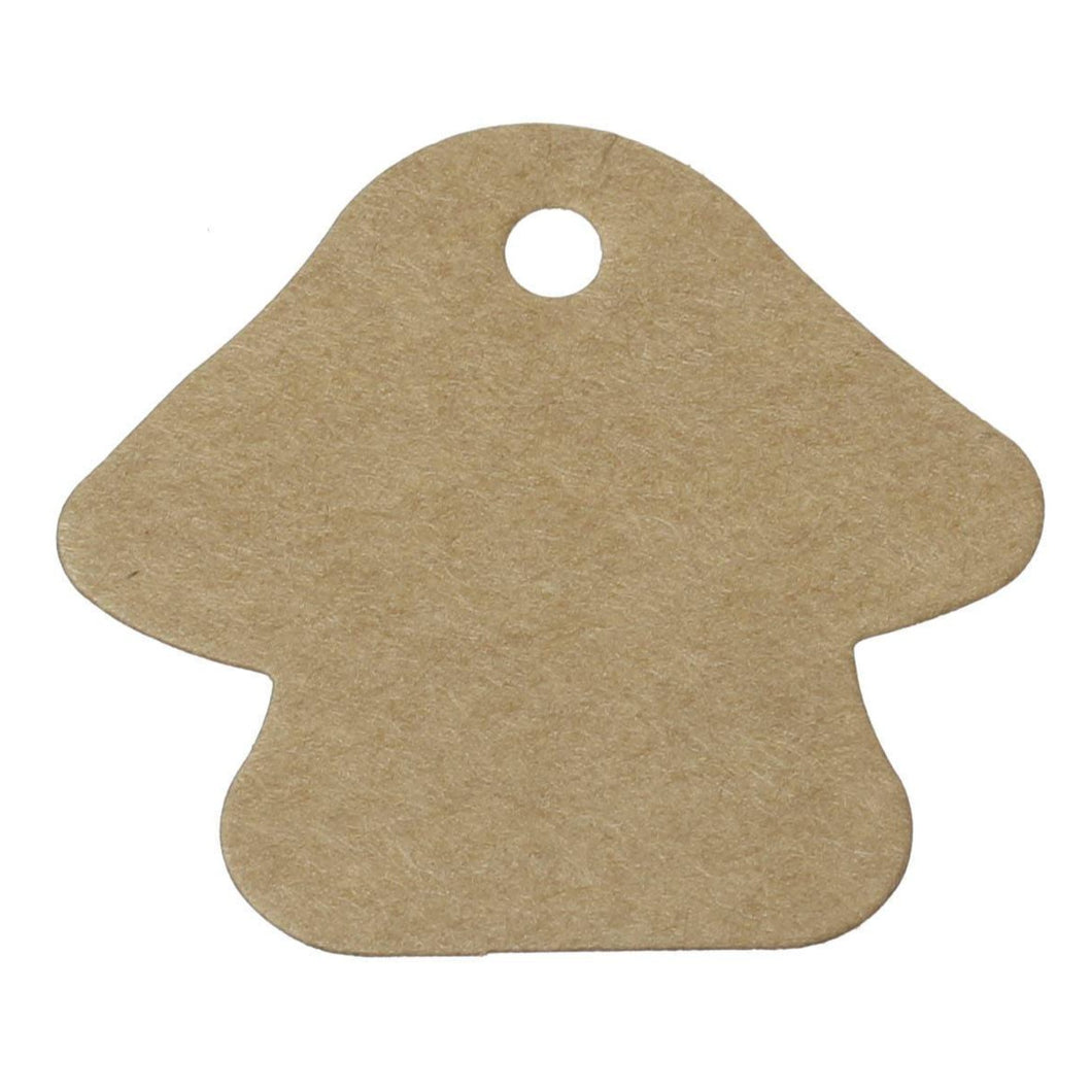 Mushroom gift tags - blank kraft paper tags - Set of 10 or 50