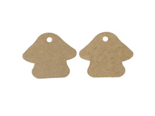 Load image into Gallery viewer, Mushroom gift tags - blank kraft paper tags - Set of 10 or 50