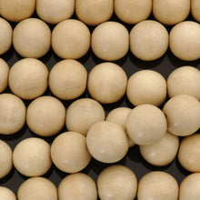 Load image into Gallery viewer, Whitewood 4mm or 6mm wood round beads 16 inch strand