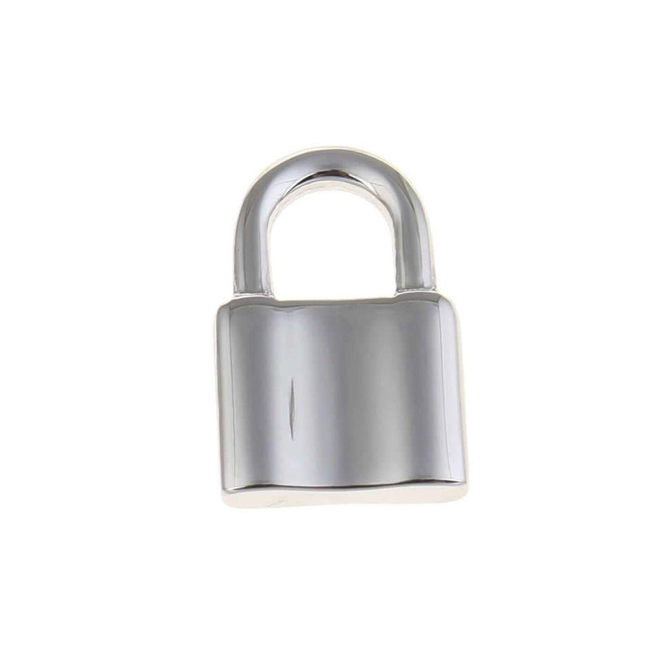 1 Lock pendant stainless steel 3D charms 12x19mm