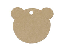 Load image into Gallery viewer, Bear gift tags - blank kraft paper tags - Set of 10 or 50