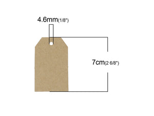 Polygon rectangle gift tags - blank kraft paper tags - Set of 10 or 50