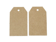 Load image into Gallery viewer, Polygon rectangle gift tags - blank kraft paper tags - Set of 10 or 50