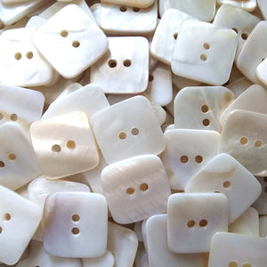 Square MOP buttons - Mother of Pearl Shell Buttons 18mm