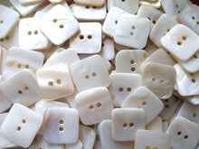 Load image into Gallery viewer, Square MOP buttons - Mother of Pearl Shell Buttons 18mm