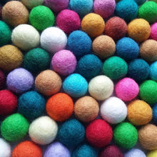 Load image into Gallery viewer, Felt Balls Color Mix - 50 Pure Wool Beads 20mm - Multicolor Shades