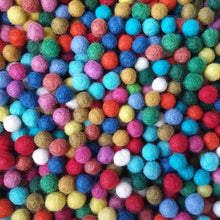 Load image into Gallery viewer, Felt Balls Color Mix - 50 Pure Wool Beads 10mm - Multicolor Shades