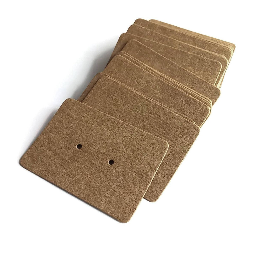 Kraft Paper Ear Studs Hang Tag Jewelry Display Card Earring - 2 inches blank rectangular cards
