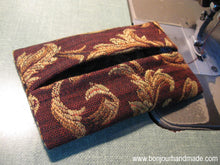 Load image into Gallery viewer, Pocket tissue holder sewing pattern - tutorial PDF download