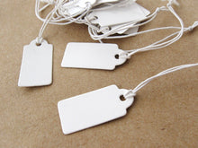 Load image into Gallery viewer, Jewelry price tags - Blank white rectangular tags - Set of 50