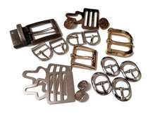 Load image into Gallery viewer, Mixed Lot Metal Belt Buckles OOAK