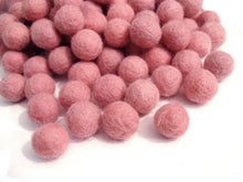 Load image into Gallery viewer, Felt Balls Peach - 20 Pure Wool Beads - Pink Peach Shade