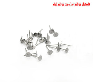Stainless steel Earring post Hypoallergenic  12mm x 5mm