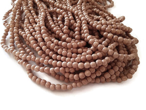 Rosewood beads 4, 6, 8 or 10mm - Natural Mala Wooden Beads