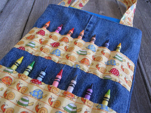 DIY Coloring Bag for crayons Sewing Pattern - Art bag for children tutorial PDF download ePattern
