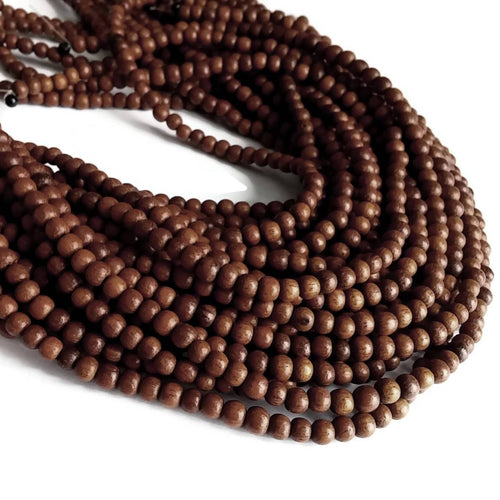 Bayong wood beads 85 exotic wood beads 4-5mm