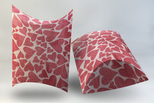 Load image into Gallery viewer, Digital Deep Pillow Box Pink and Red Hearts