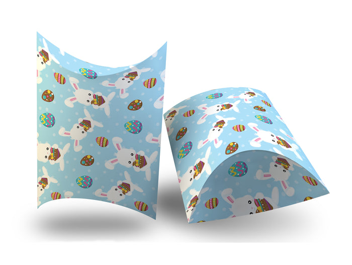 Digital deep pillow box Easter bunny and eggs