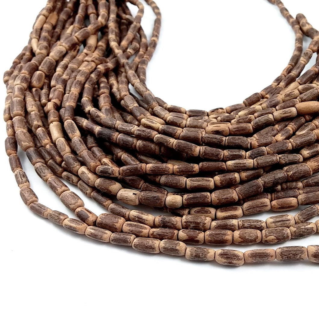 Sigid Vine Wood Tube Beads 10mm - Eco Friendly Tube Beads 10mm - 16