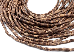 "Sigid Vine Wood Tube Beads 10mm - Eco Friendly Tube Beads 10mm - 16"" strand"
