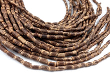 "Load image into Gallery viewer, Sigid Vine Wood Tube Beads 10mm - Eco Friendly Tube Beads 10mm - 16"" strand"