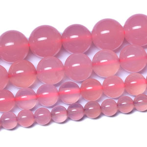 Pink Natural Agate Round Beads Strands 6 or 8mm
