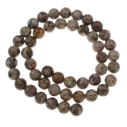 Pierres Tibétaine Naturelles Agate Rondes 6 ou 8mm