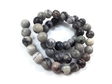 Load image into Gallery viewer, Network Stone Round Beads Strands 6 or 8mm
