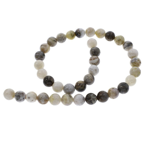 Natural Bamboo Agate Stone Beads Strands 6 or 8mm Round