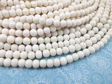 Load image into Gallery viewer, White bone beads, bone round beads 8mm, eco friendly and natural bone beads
