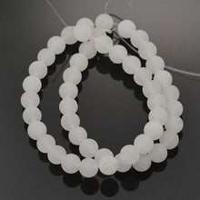 Load image into Gallery viewer, Natural White Jade Frosted Stone Beads Round 6 or 8mm